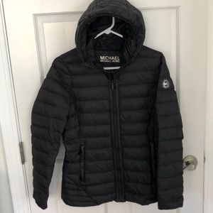 Michael Kors Packable Down Fill Hooded Jacket